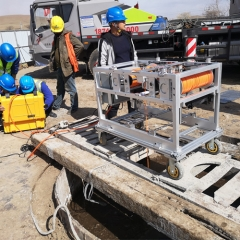 Hole quality testing and trenching quality testing and sediment thickness testing