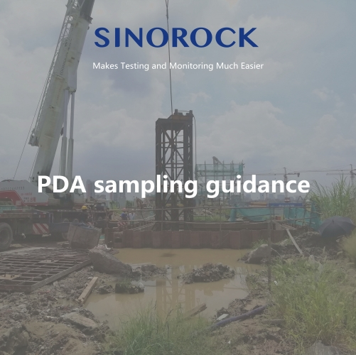 RSM-PDT(B) High-Strain Pile Bearing Testing on site sampling guidance